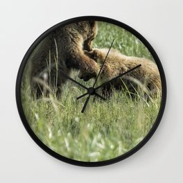 Brown Bear Cubs - The Provocation Wall Clock