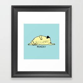 MONDAY MOOD Framed Art Print