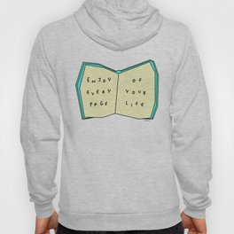 Words from a Colorful Book - inspirational quote illustration Hoody