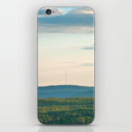 Pink Skies, Blue Hills and Golden Trees iPhone Skin