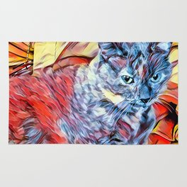 The TORTIE from our FUNK YOUR FELINE line Rug