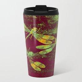 Mauritius Vintage Dragonflies QRF Travel Mug
