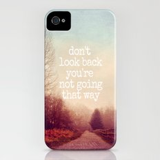 dont look back iPhone (4, 4s) Slim Case