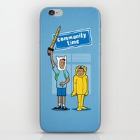 community iPhone & iPod Skins featuring Community Time! by powerpig