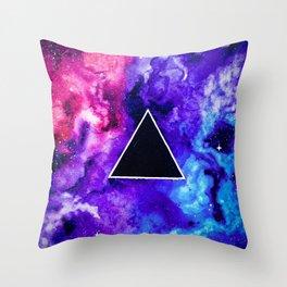 Black Hole Trinity Throw Pillow