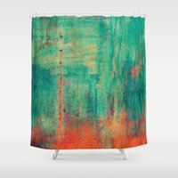 metal Shower Curtains featuring Vintage Metal by Patterns and Textures