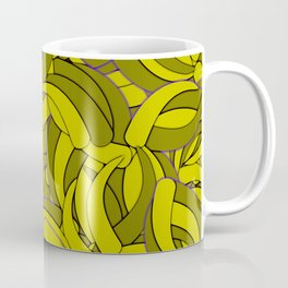 Dark Lemon Yellow Abstract Background Coffee Mug