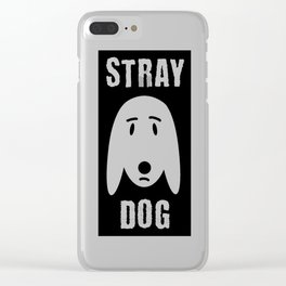 stray dog Clear iPhone Case