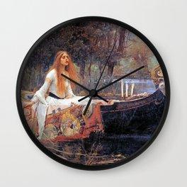 THE LADY OF SHALLOT - WATERHOUSE Wall Clock