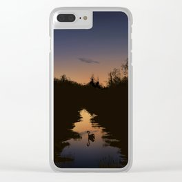 Swan at Dusk Clear iPhone Case