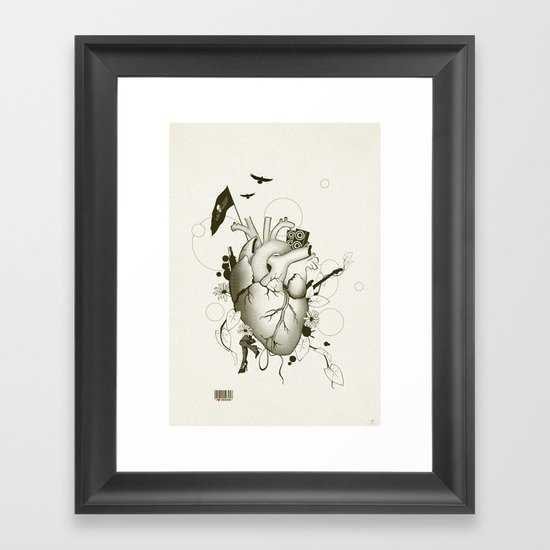 I Love Design Framed Art Print