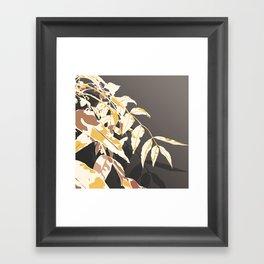 Autumn Vibes leaves Framed Art Print