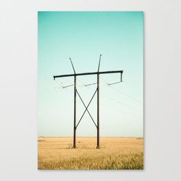 Don Quixote of La Mancha against the windmills Canvas Print