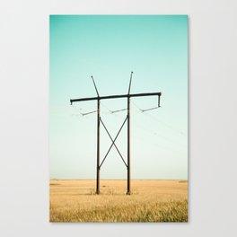 Don Quixote of La Mancha against the windmills Canvas Print