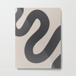 Curvy Line - Minimal Print Metal Print