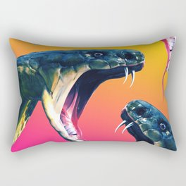Snake attack Rectangular Pillow