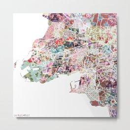 La Rochelle map Metal Print