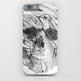 White marble skull iPhone Case