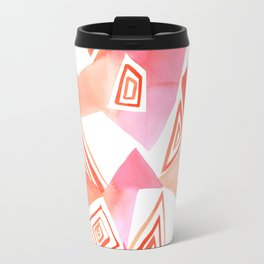 Geo Triangle Peach Travel Mug