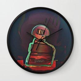 PAWN / Black / Chess Wall Clock