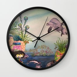 Journey Under the Sea by Maureen Donovan Wall Clock