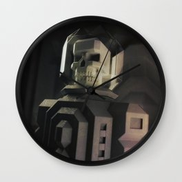 Necronaut low-polygon 3D artwork Wall Clock
