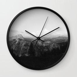 Yosemite x Glacier Point Wall Clock