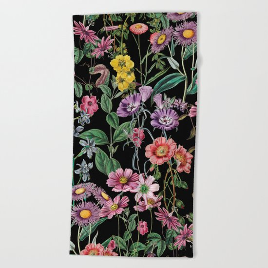 NIGHT FOREST XIV Beach Towel