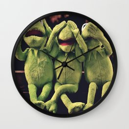 Kermit - Green Frog Wall Clock