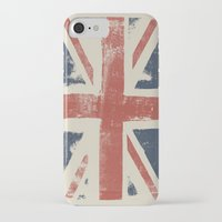 union jack iPhone & iPod Cases featuring Union Jack by David Hand