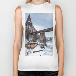 Fairytale Castle in the Snow Biker Tank