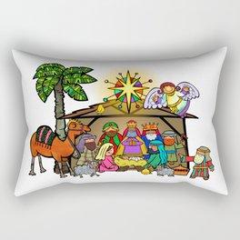 Christmas Nativity Cartoon Doodle Rectangular Pillow