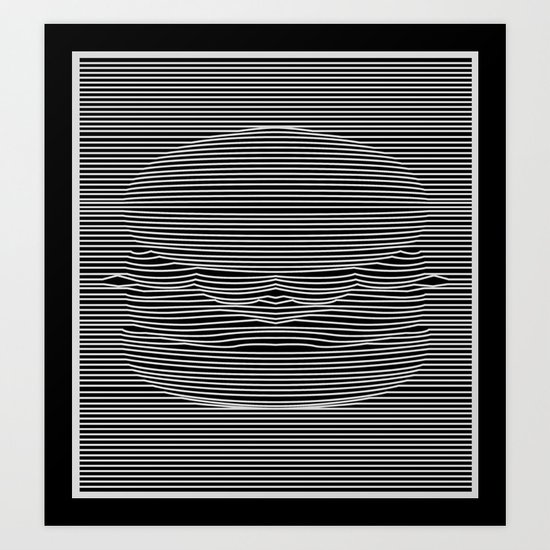 Cheeseburger Optical Illusion Art Print