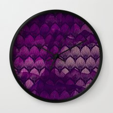 Variations on a Feather II - Purple Haze  Wall Clock