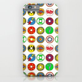 Superhero Donuts iPhone Case