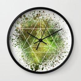 Star Tetrahedron the Merkaba Vehicle of Light Wall Clock