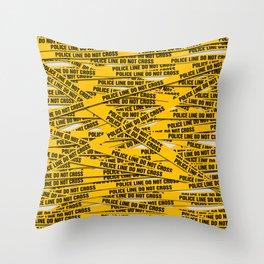 Police Line Throw Pillow
