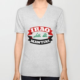 Iraq My Homeland Banner Unisex V-Neck