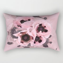 Poppies in the pink Rectangular Pillow