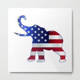 Republican Elephant Flag Metal Print