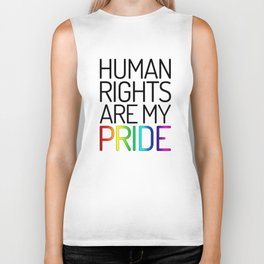 Human Rights are My Pride Biker Tank