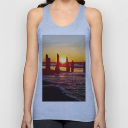 Stunning sunset through the sticks Unisex Tank Top