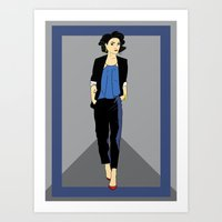 tintin Art Prints featuring Ms Haddock by InkandSquid