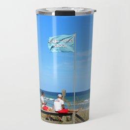 Overseers At The Beach Travel Mug