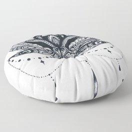 Lotus with Jewels Floor Pillow