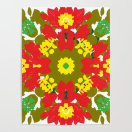 Colorful Leaves Mandala Poster