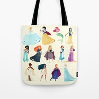 princess Tote Bags featuring Princess by Chabe Escalante