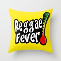 reggae Throw Pillows featuring Reggae Fever by Marvin Porcher