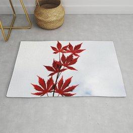 Japanese maple leaves Rug