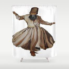 Whirling Dervish Conveys God's Spiritual Gift Shower Curtain